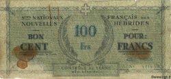 100 Francs NOUVELLES HÉBRIDES  1943 P.03 B+