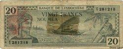 20 Francs NOUVELLES HÉBRIDES  1945 P.07 B