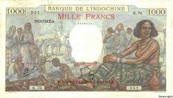 1000 Francs NOUVELLES HÉBRIDES  1945 P.15 TB