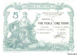 5 Ticaux THAÏLANDE  1898 P.S101 var