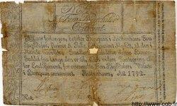 5 Rigsdaler Courant DANEMARK  1792 P.A29 AB