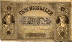 5 Rigsdaler DANEMARK  1863 P.A62 TB+