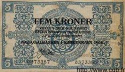 5 Kroner DANEMARK  1899 P.001 TTB+