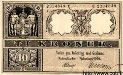 10 Kroner DANEMARK  1910 P.007 SUP+