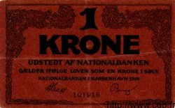 1 Krone DANEMARK  1914 P.010 TTB+