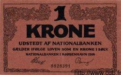 1 Krone DANEMARK  1914 P.010 SPL