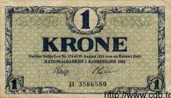 1 Krone DANEMARK  1918 P.012d TB à TTB