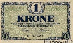 1 Krone DANEMARK  1918 P.012d pr.NEUF