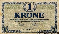 1 Krone DANEMARK  1918 P.012d