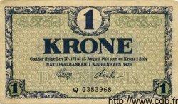 1 Krone DANEMARK  1920 P.012e TTB+