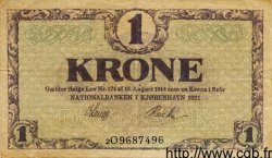 1 Krone DANEMARK  1920 P.012g