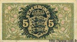 5 Kroner DANEMARK  1922 P.020 TTB