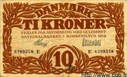 10 Kroner DANEMARK  1919 P.021h TTB