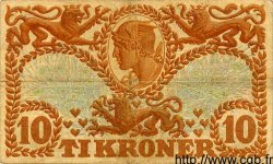 10 Kroner DANEMARK  1921 P.021l TB+