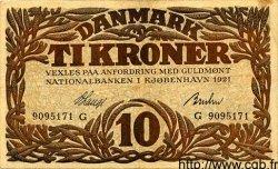 10 Kroner DANEMARK  1921 P.021l TTB+