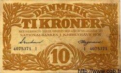 10 Kroner DANEMARK  1936 P.026 TB