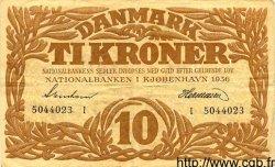 10 Kroner DANEMARK  1936 P.026n TTB