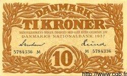 10 Kroner DANEMARK  1937 P.031 SUP