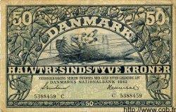 50 Kroner DANEMARK  1942 P.032 pr.TTB