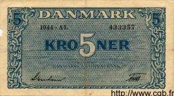 5 Kroner DANEMARK  1944 P.035a TTB