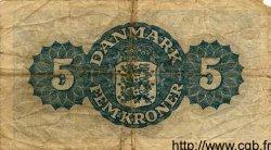 5 Kroner DANEMARK  1945 P.035b TB