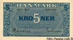 5 Kroner DANEMARK  1947 P.035b TTB+