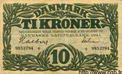 10 Kroner DANEMARK  1945 P.037a TTB+
