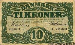 10 Kroner DANEMARK  1945 P.037c TB