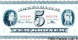 5 Kroner DANEMARK  1954 P.042b TTB+