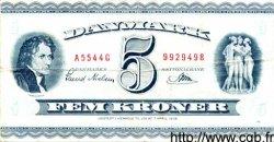5 Kroner DANEMARK  1954 P.042b TB+