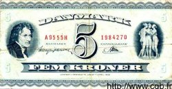 5 Kroner DANEMARK  1958 P.042b TB