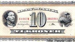 10 Kroner DANEMARK  1956 P.044d TTB