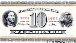 10 Kroner DANEMARK  1957 P.044e TTB