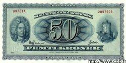 50 Kroner DANEMARK  1970 P.045b SPL