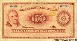 100 Kroner DANEMARK  1965 P.046b TB