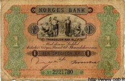 1 Speciedaler NORVÈGE  1869 P.A47s pr.TB