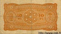 10 Kroner NORVÈGE  1919 P.08b TTB