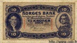 10 Kroner NORVÈGE  1927 P.08b TTB+