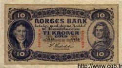 10 Kroner NORVÈGE  1929 P.08b SUP