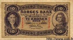 10 Kroner NORVÈGE  1937 P.08c TTB+