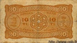 10 Kroner NORVÈGE  1940 P.08c TB+