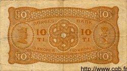 10 Kroner NORVÈGE  1941 P.08c TTB