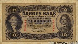 10 Kroner NORVÈGE  1942 P.08c pr.TTB