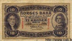 10 Kroner NORVÈGE  1943 P.08c TB