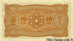 10 Kroner NORVÈGE  1944 P.08c pr.NEUF