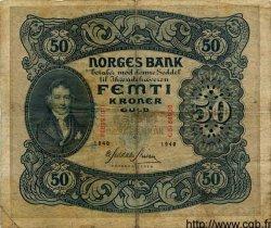 50 Kroner NORVÈGE  1940 P.09d TB