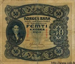50 Kroner NORVÈGE  1942 P.09d