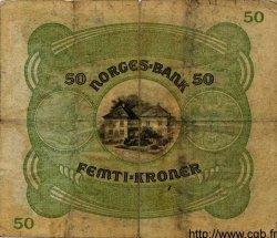 50 Kroner NORVÈGE  1942 P.09d TB