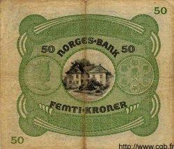 50 Kroner NORVÈGE  1942 P.09d TB à TTB
