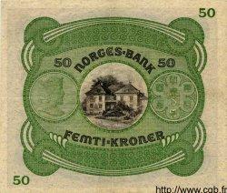 50 Kroner NORVÈGE  1942 P.09d TTB+ à SUP
